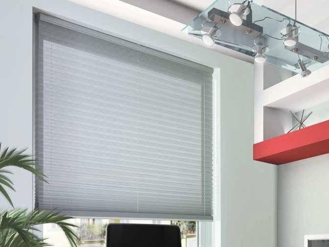 Motorized pleated blinds headrail PLÌ 353/4 by Mottura