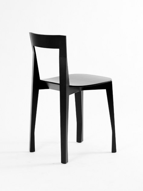 Lacquered chair QUADRILLE by Moustache