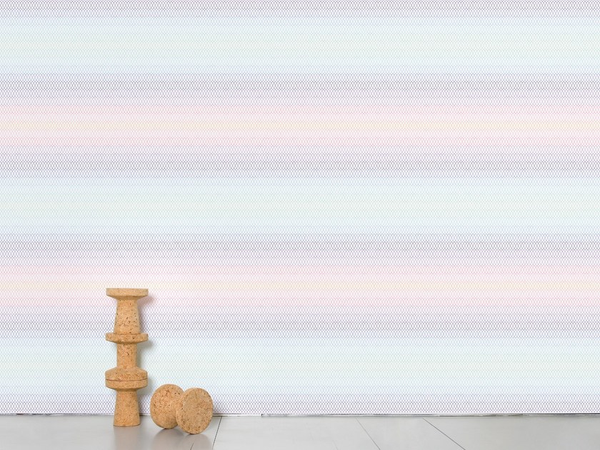 Optical panoramic wallpaper OPTICAL GRID by Moustache