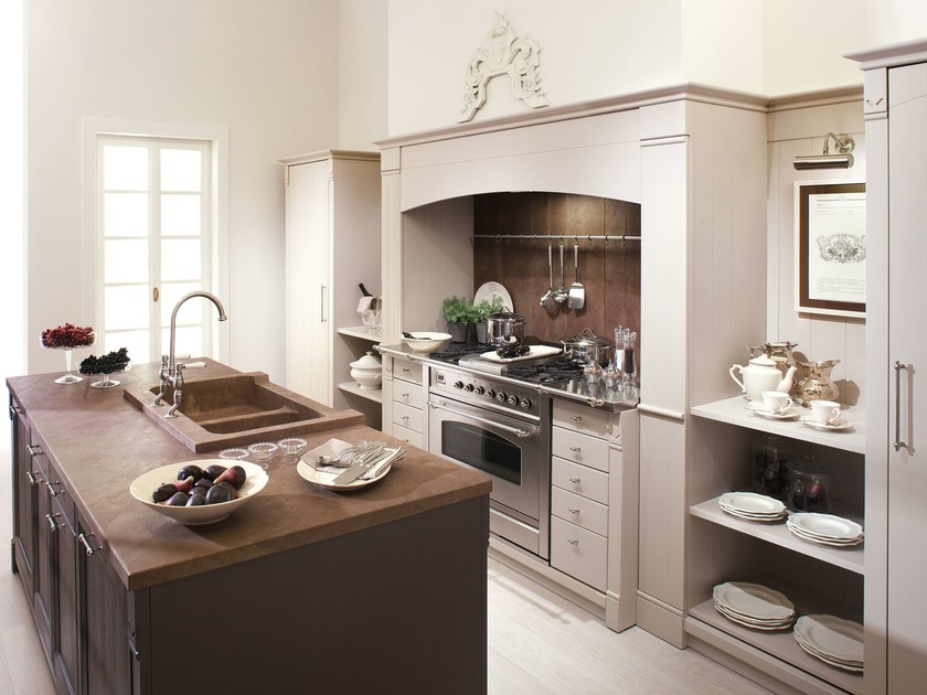 Kitchen in brushed wood ENGLISH MOOD by Minacciolo