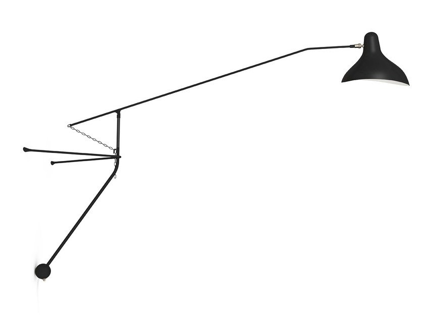 Wall lamp with swing arm BS2 by DCW éditions