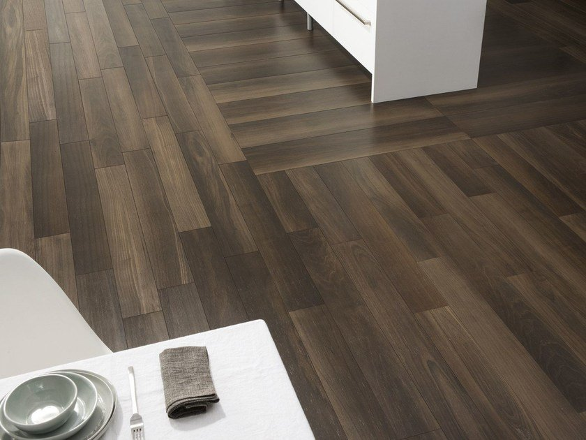Wall/floor tiles with wood effect LIFE MORO by Ceramiche Caesar
