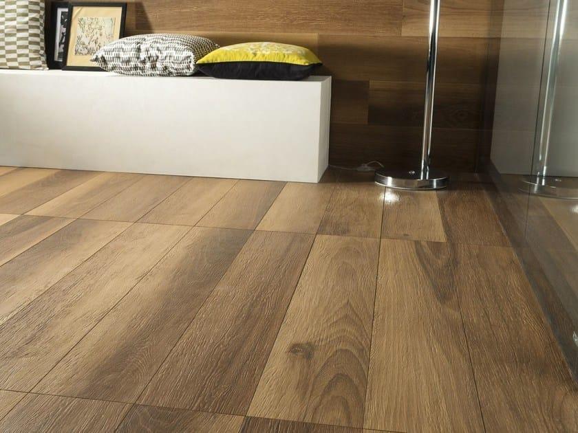 Pavimento rivestimento effetto legno life noce ceramiche caesar