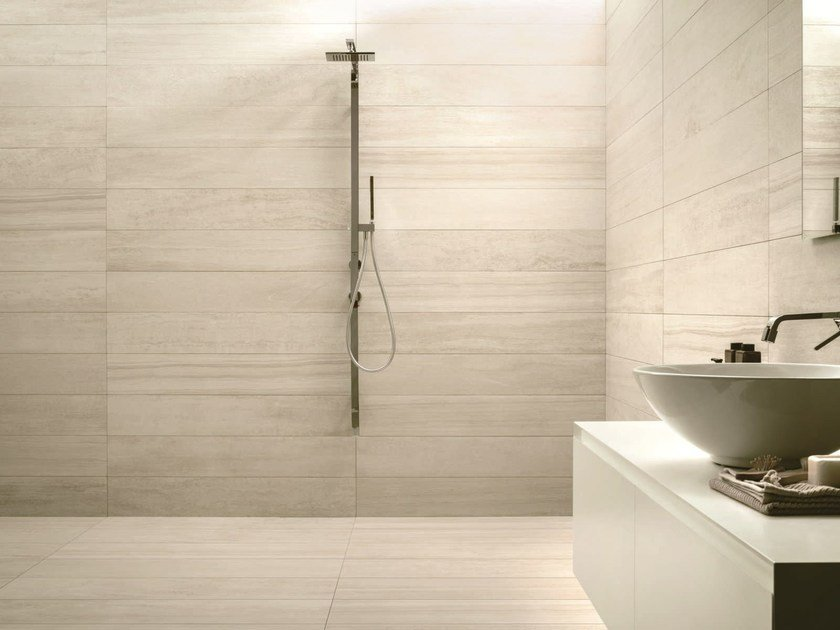 Wall/floor tiles with stone effect VERSE SUGAR by Ceramiche Caesar