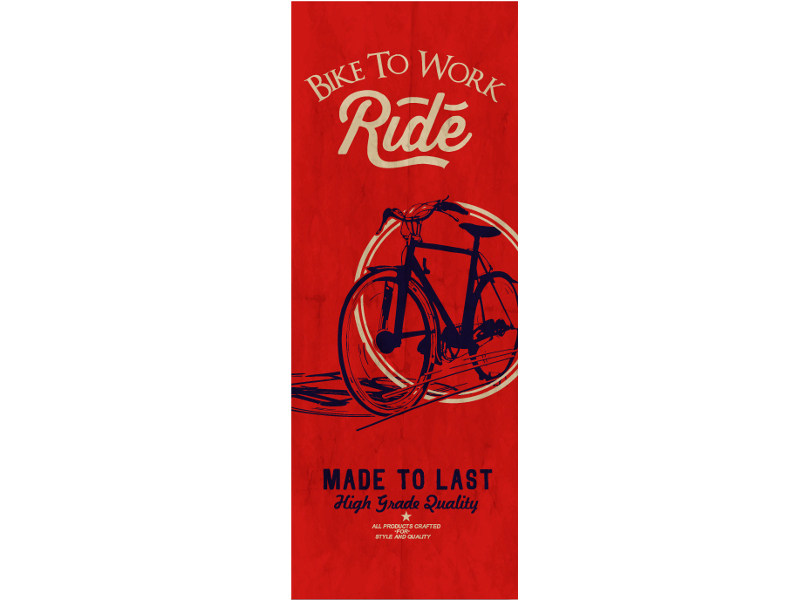 Washable writing nonwoven wallpaper LUVBIKE © by LGD01
