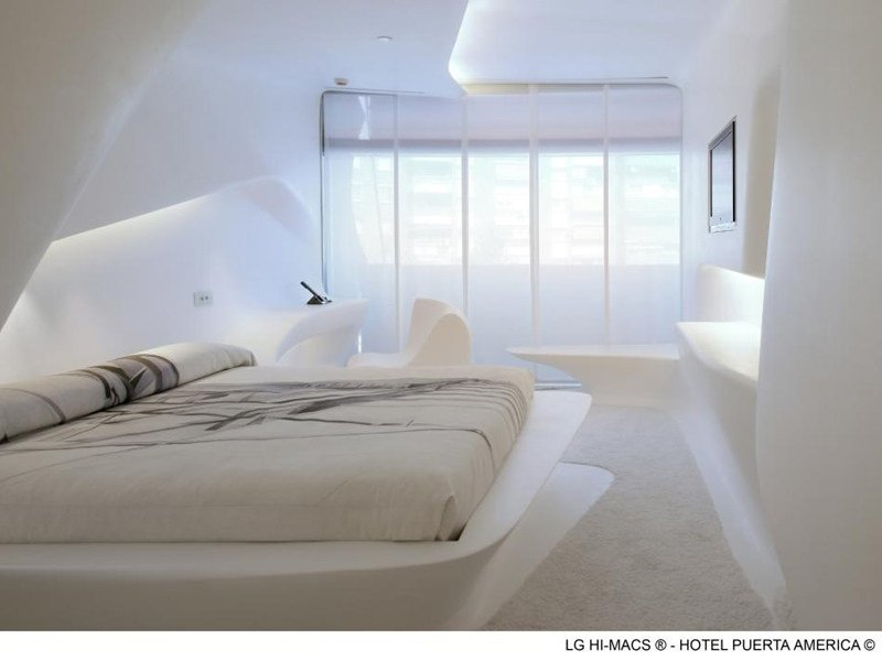 HI-MACS® Hotel Puerta América, Madrid - Design Zaha Hadid - Photo Credits diephotodesigner.de