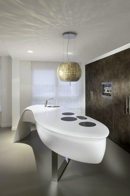HI-MACS® LEAF kitchen by Culimaat - Photo credits