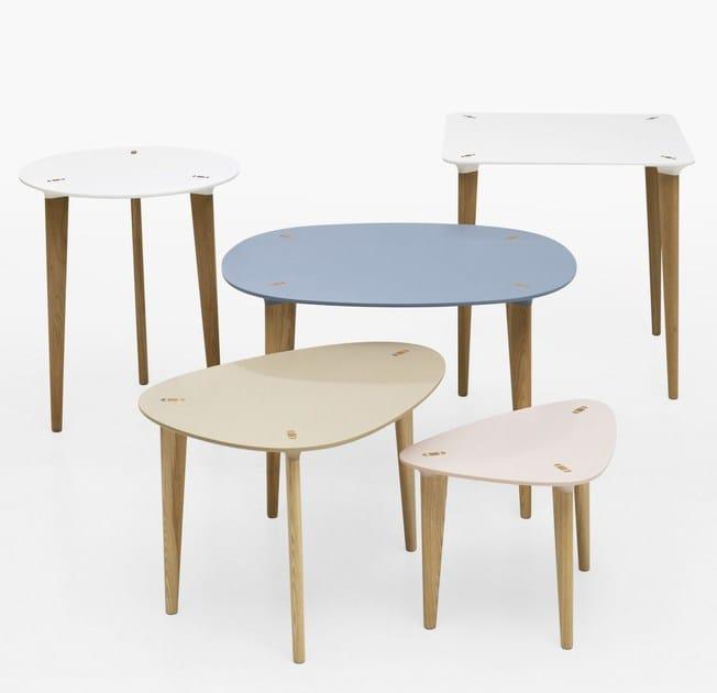 HI-MACS® BUFF tables by Joel Karlsson, Krook & Tjäder Design for Karl Andersson & Söner - Photo Credits ©Jonas Sällberg