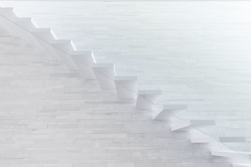 HI-MACS® Stairs at private house by Simone Piva
