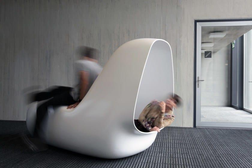 HI-MACS® Sleepbox - Design: Caspar Lohner, Switzerland - Supervision: Mathias Bernhard, Manuel Kretzer - Fabrication: Kläusler Acrylstein AG – Photo Credits: ©Manuel Kretzer - Material: HI-MACS®, Nordic White