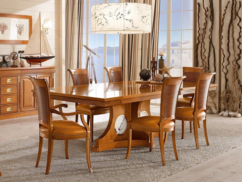 ... rettangolare in legno massello SESTANTE  Tavolo da pranzo - Caroti