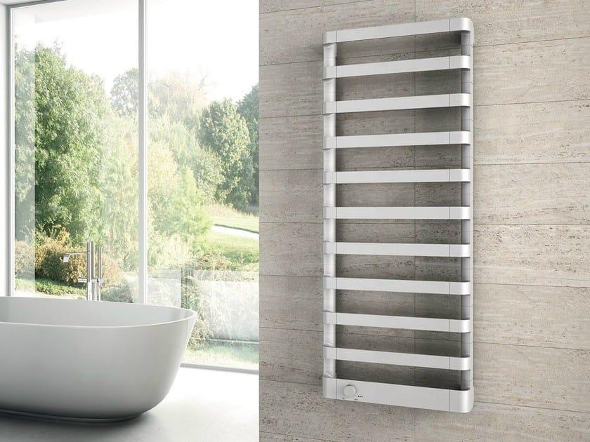 Wall-mounted chrome decorative radiator STEP E by IRSAP