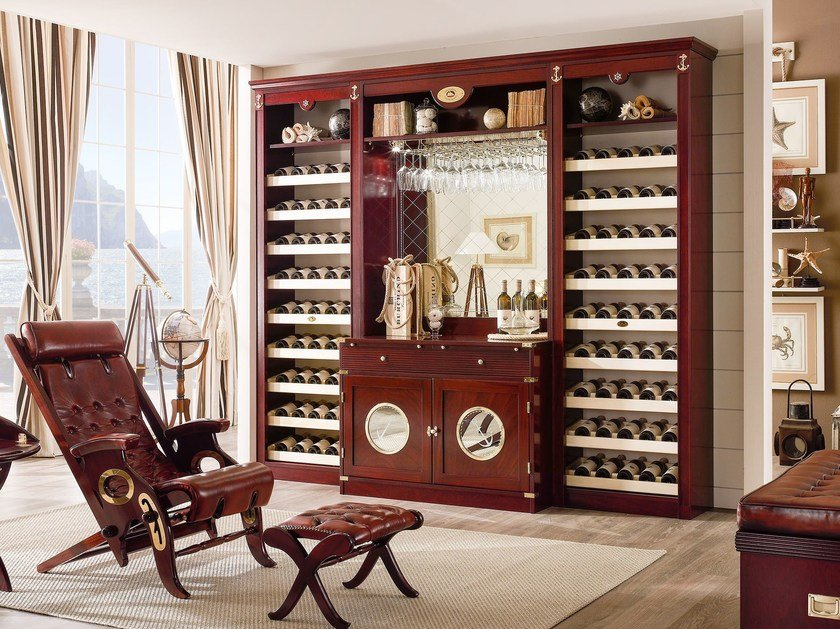 Wooden bar cabinet VINERIA by Caroti
