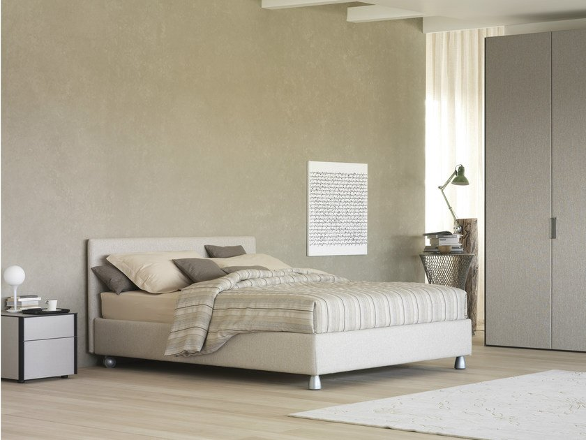 Double bed on casters NOTTURNO | Double bed by Flou