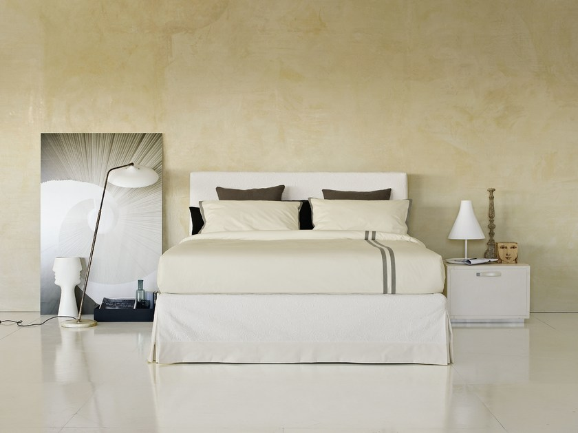 Storage bed with removable cover PLAZA | Double bed by Flou