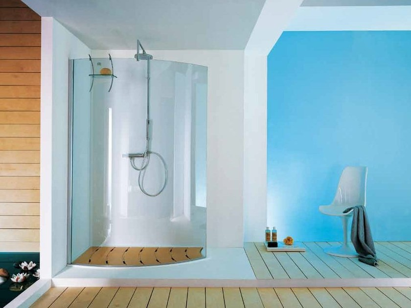 Shower cabin with tray OPEN SURF by Samo