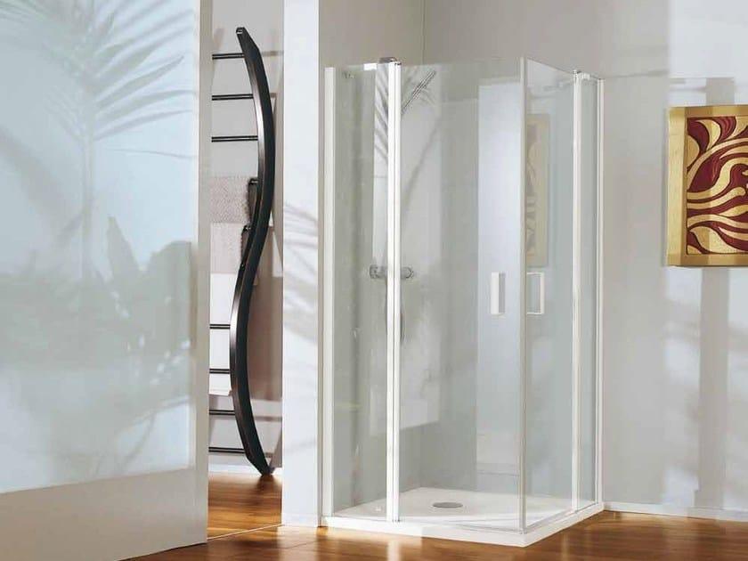 Corner shower cabin with tray POLARIS DELUXE   Corner shower cabin by Samo