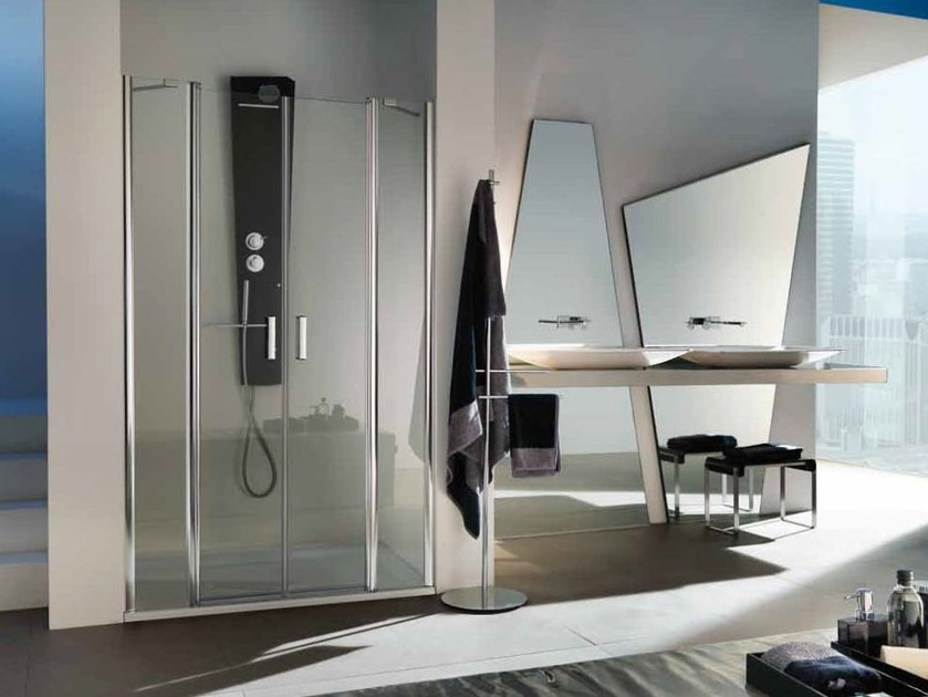 Niche shower cabin with hinged door with tray POLARIS DELUXE | Niche shower cabin by Samo