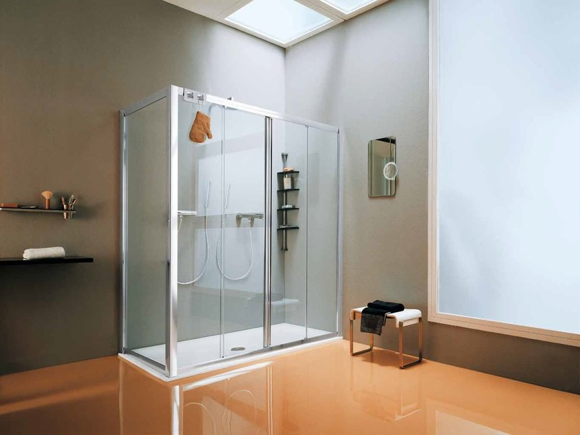 2 places corner shower cabin with tray CEE | 2 places shower cabin by Samo