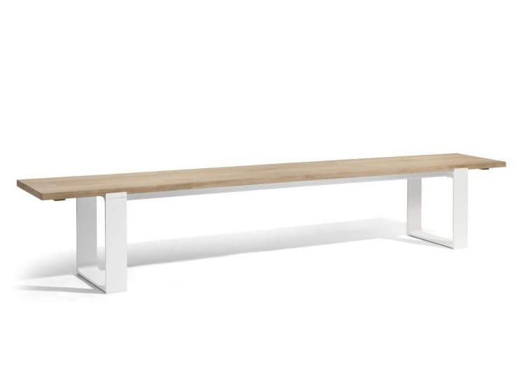 Teak garden bench PRATO | Garden bench by MANUTTI