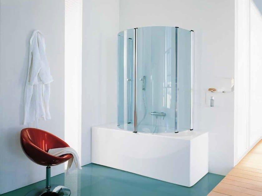 Glass bathtub wall panel ECLISSE by Samo
