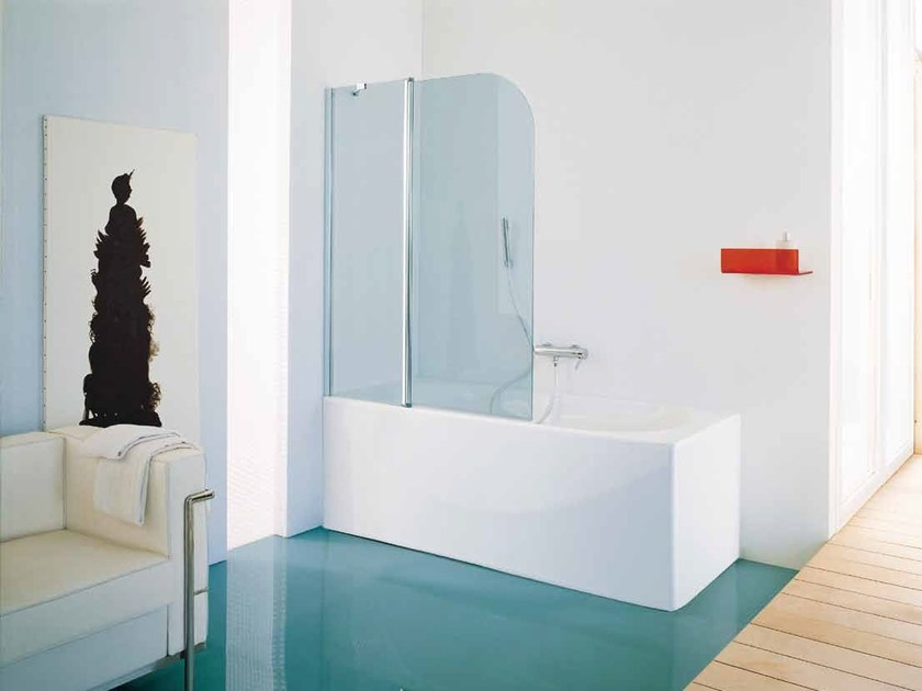 Glass bathtub wall panel ELECTRA by Samo