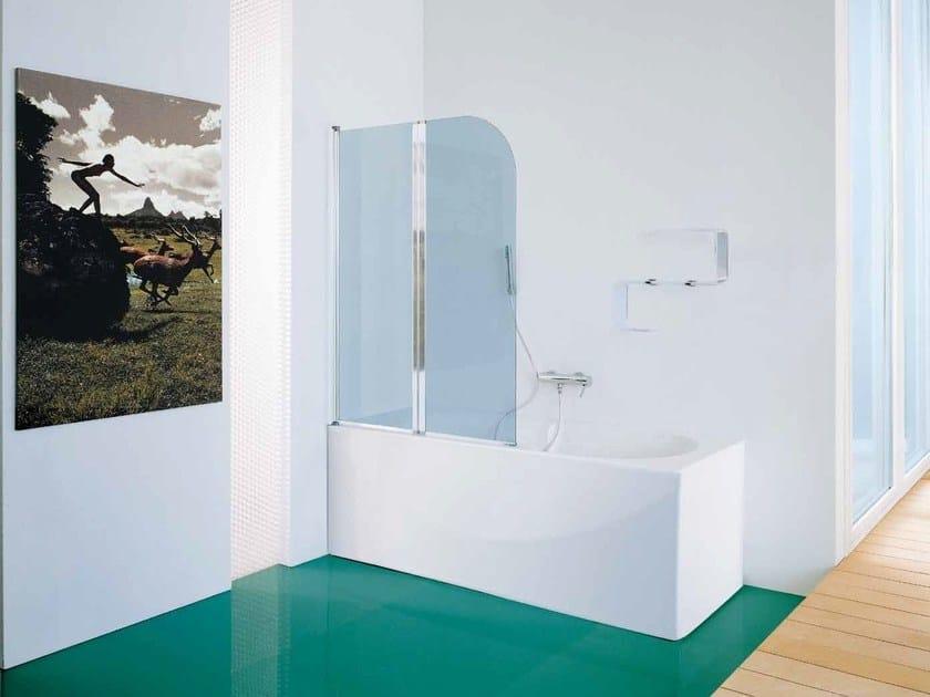 Glass bathtub wall panel Bathtub wall panel by Samo