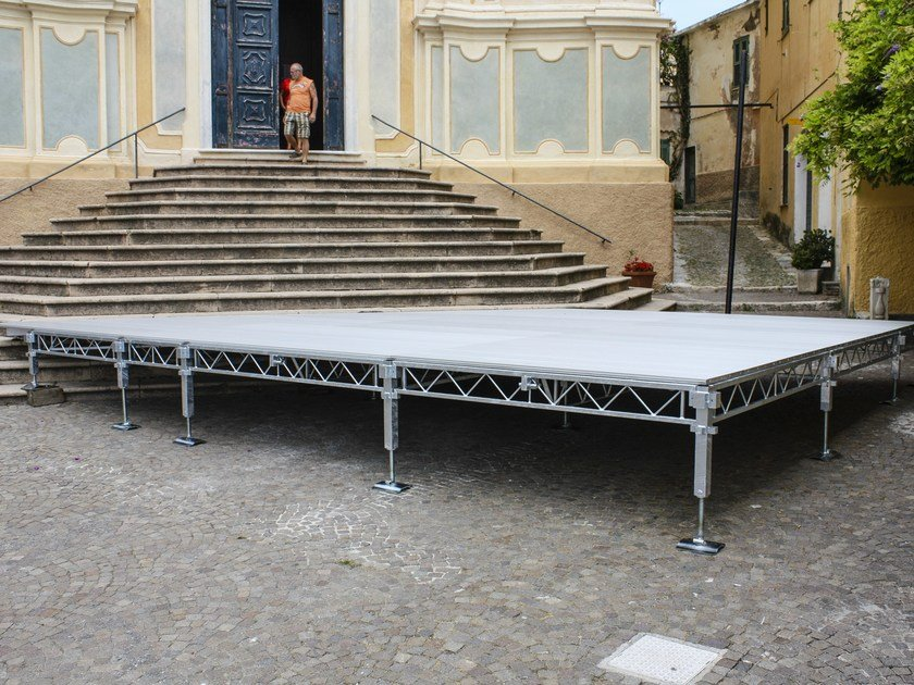 Modular system for steel platform and stand JOLLY by SELVOLINA