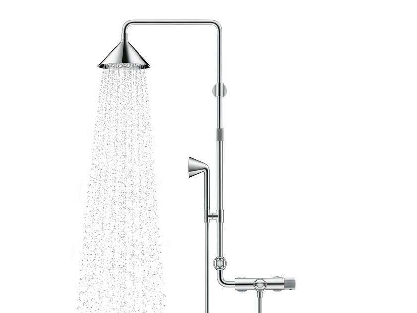 Stainless steel shower panel AXOR SHOWER PIPE By hansgrohe design FRONT