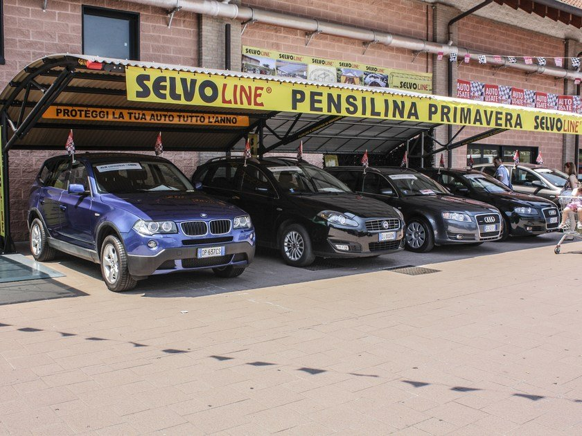 Steel porch for parking areas PRIMAVERA by SELVOLINA