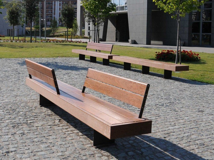 Wooden Bench HARRIS by Metalco