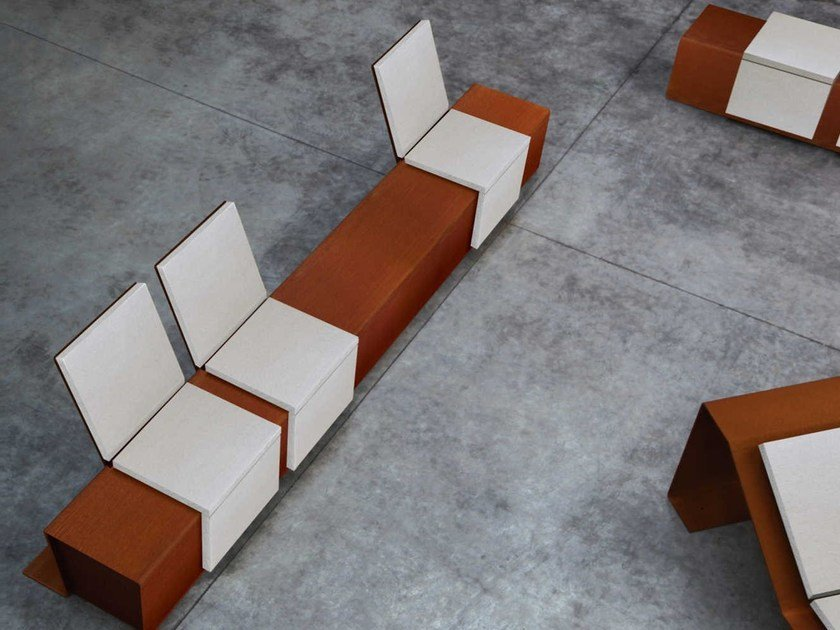 Corten™ Bench CORTOMADERE   Bench by Metalco