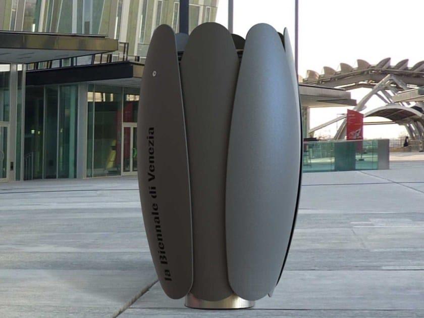 Steel litter bin BLOOM | Litter bin by Metalco