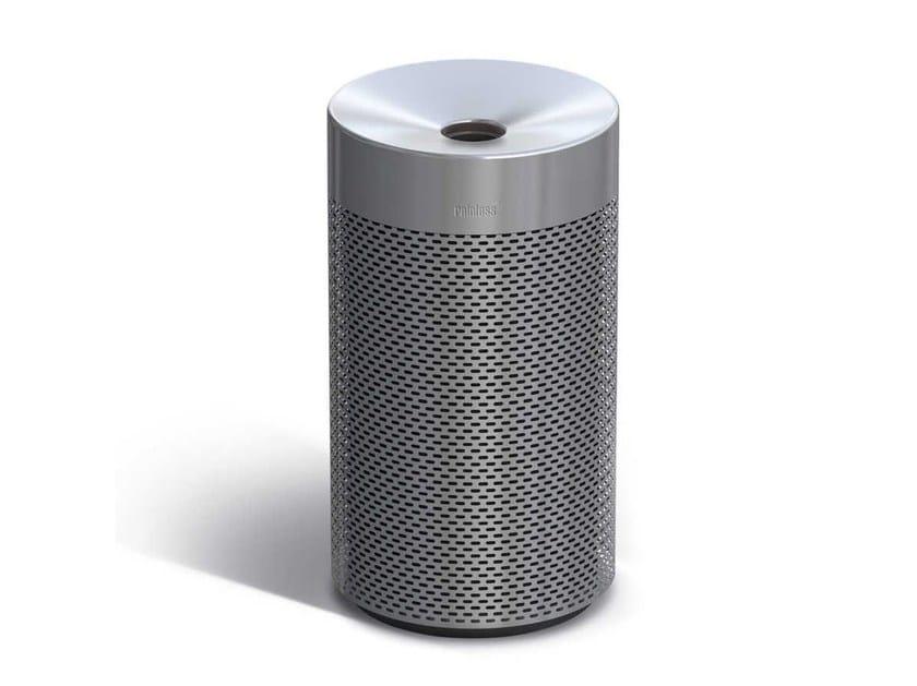 Steel litter bin with lid RAINLESS | Litter bin by Metalco