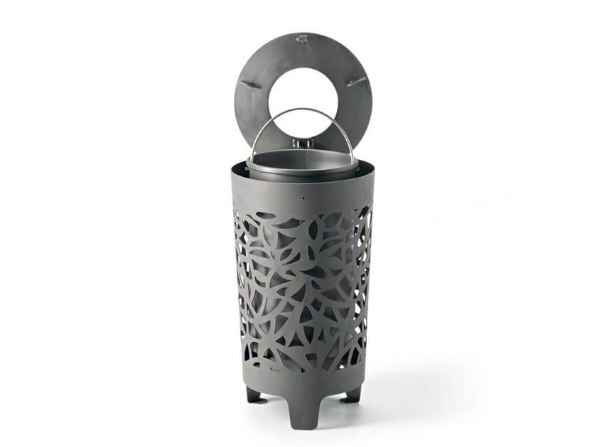 Litter bin with lid CONGA   Litter bin by Metalco