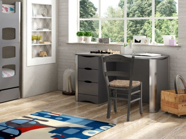 Lacquered rectangular Kids writing desk with drawers FUSION   Kids writing desk by Mathy by Bols
