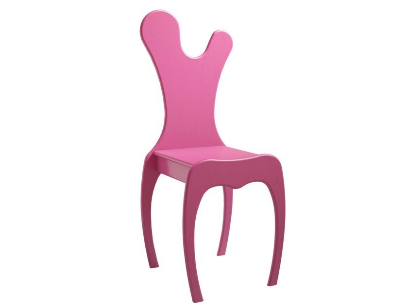 Lacquered wooden kids chair VOLUTE   Kids chair by Mathy by Bols