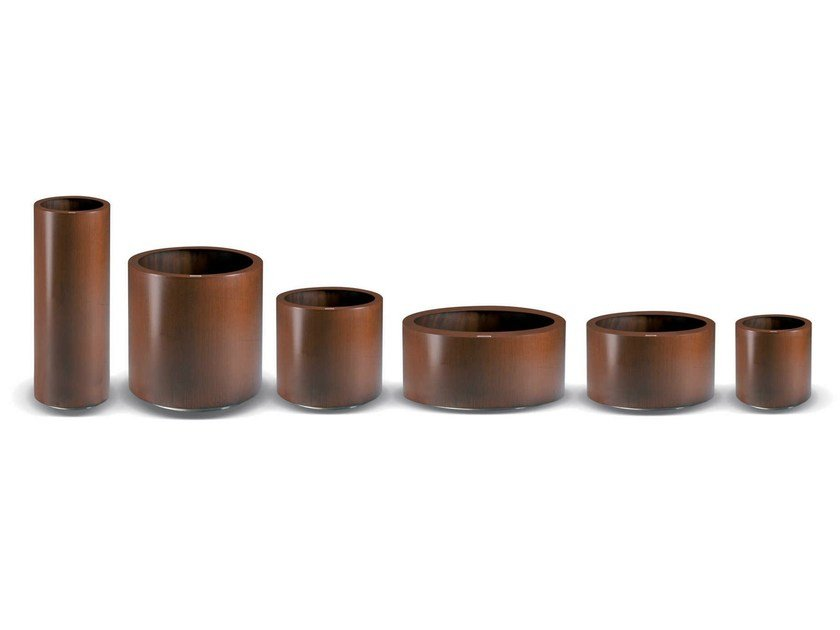 Corten™ Flower pot ASTER | Flower pot by Metalco