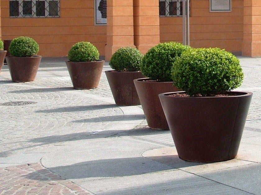 Corten™ Flower pot PITOCCA | Flower pot by Metalco