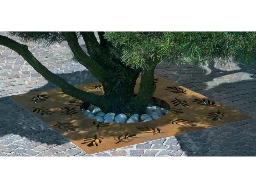 Steel tree grill FLORA | Tree grill by Metalco