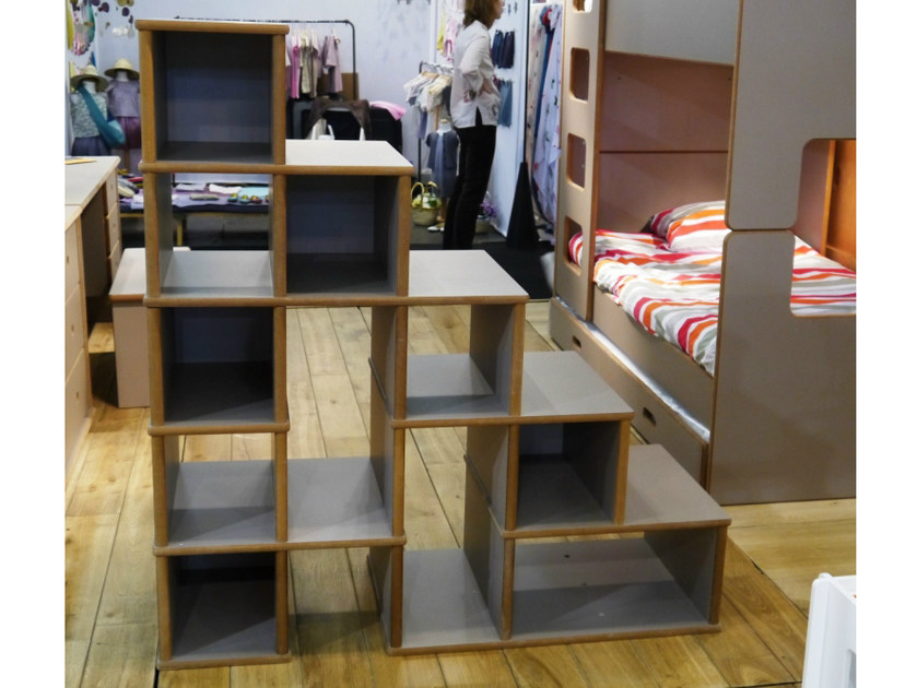 Double-sided MDF kids bookcase DAVID | Double-sided kids bookcase by Mathy by Bols