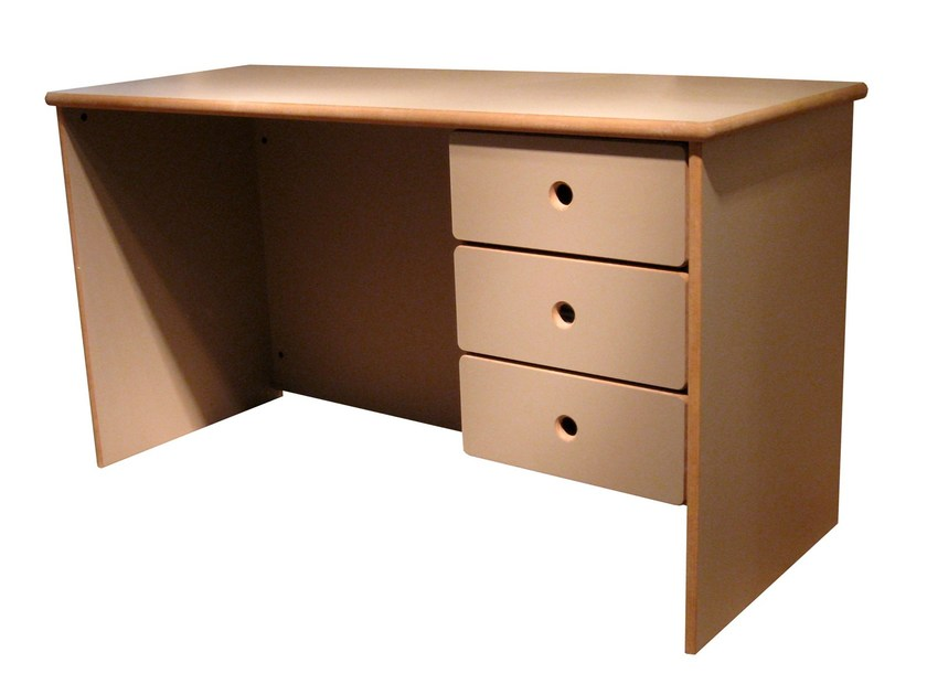 Rectangular MDF Kids writing desk DAVID | Kids writing desk with drawers by Mathy by Bols