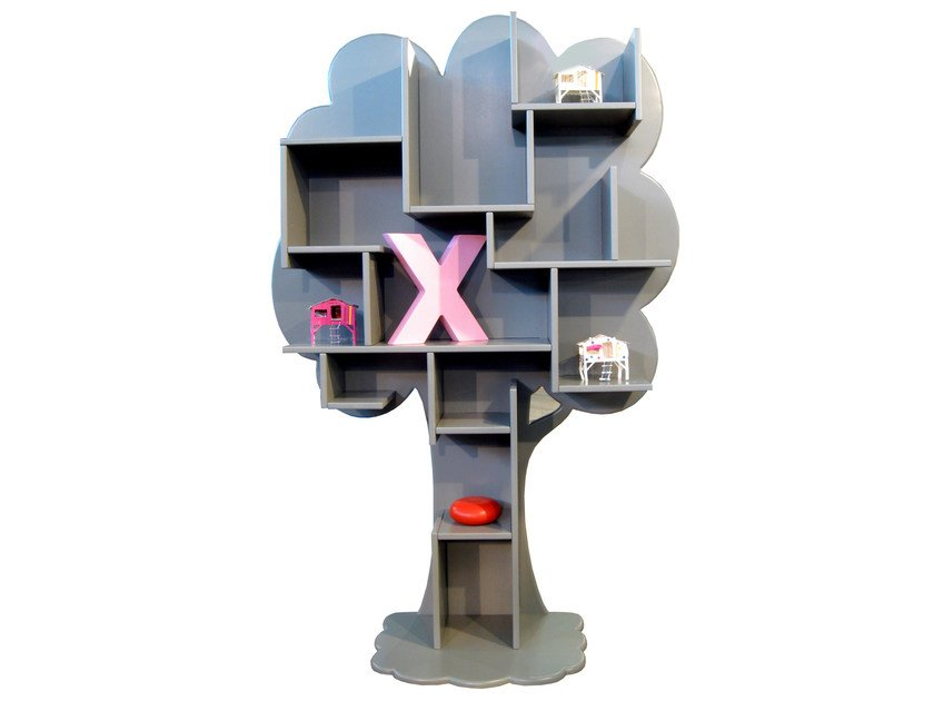 Lacquered MDF kids bookcase LOUANE by Mathy by Bols