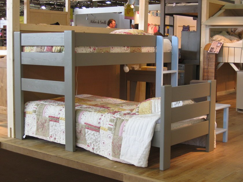 Loft wooden bed DOMINIQUE | Loft bed by Mathy by Bols