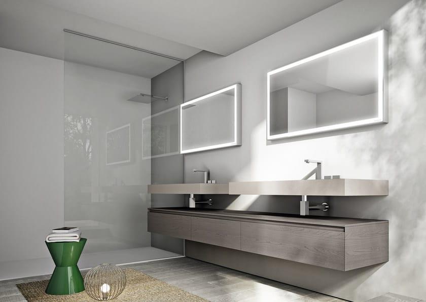 Arredo bagno completo in castagno CUBIK N°04 By Idea