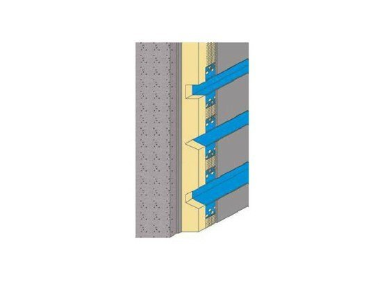 Corner cover Feature beads for thermal insulation by EDILFERRO TRAVEST