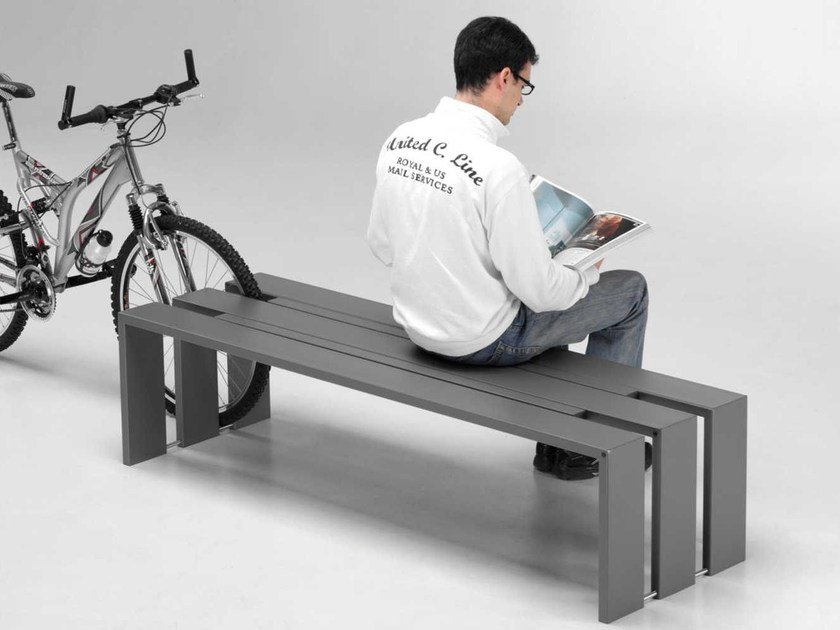 Backless steel Bench TOSO | Bench by Metalco