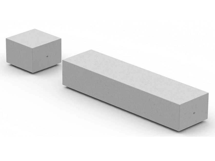 Backless reconstructed stone Bench I-BOX | HPC Bench by Metalco