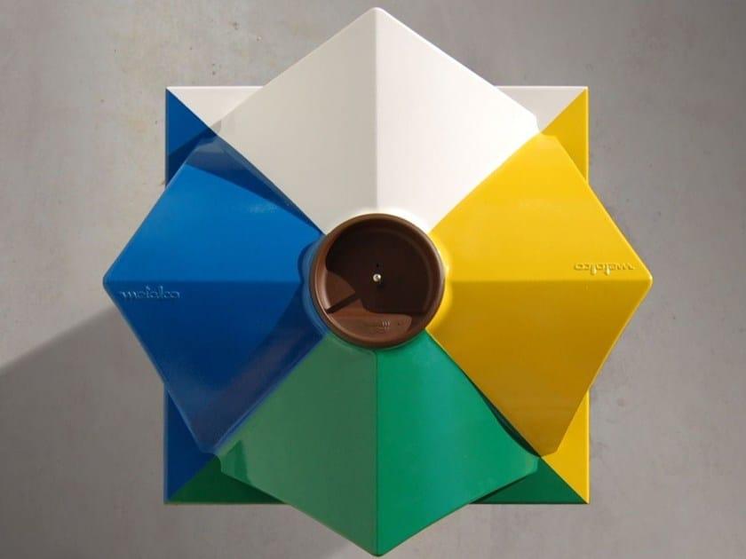 Steel litter bin with lid ECOMIX | Litter bin by Metalco
