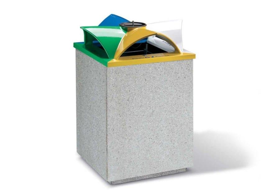 Litter bin with lid TOPAZIO | Litter bin by Metalco
